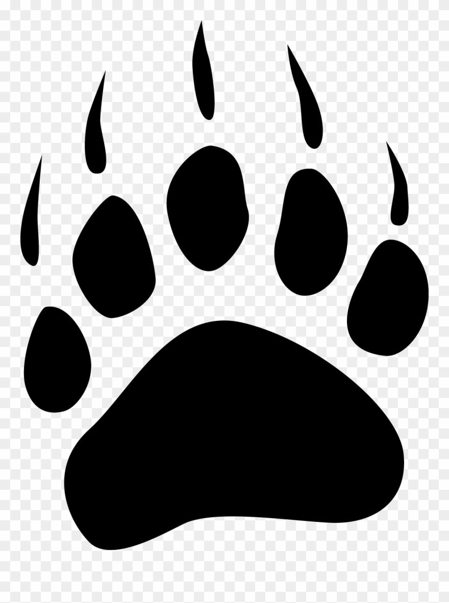 Clip art grizzly print. Paw clipart polar bear