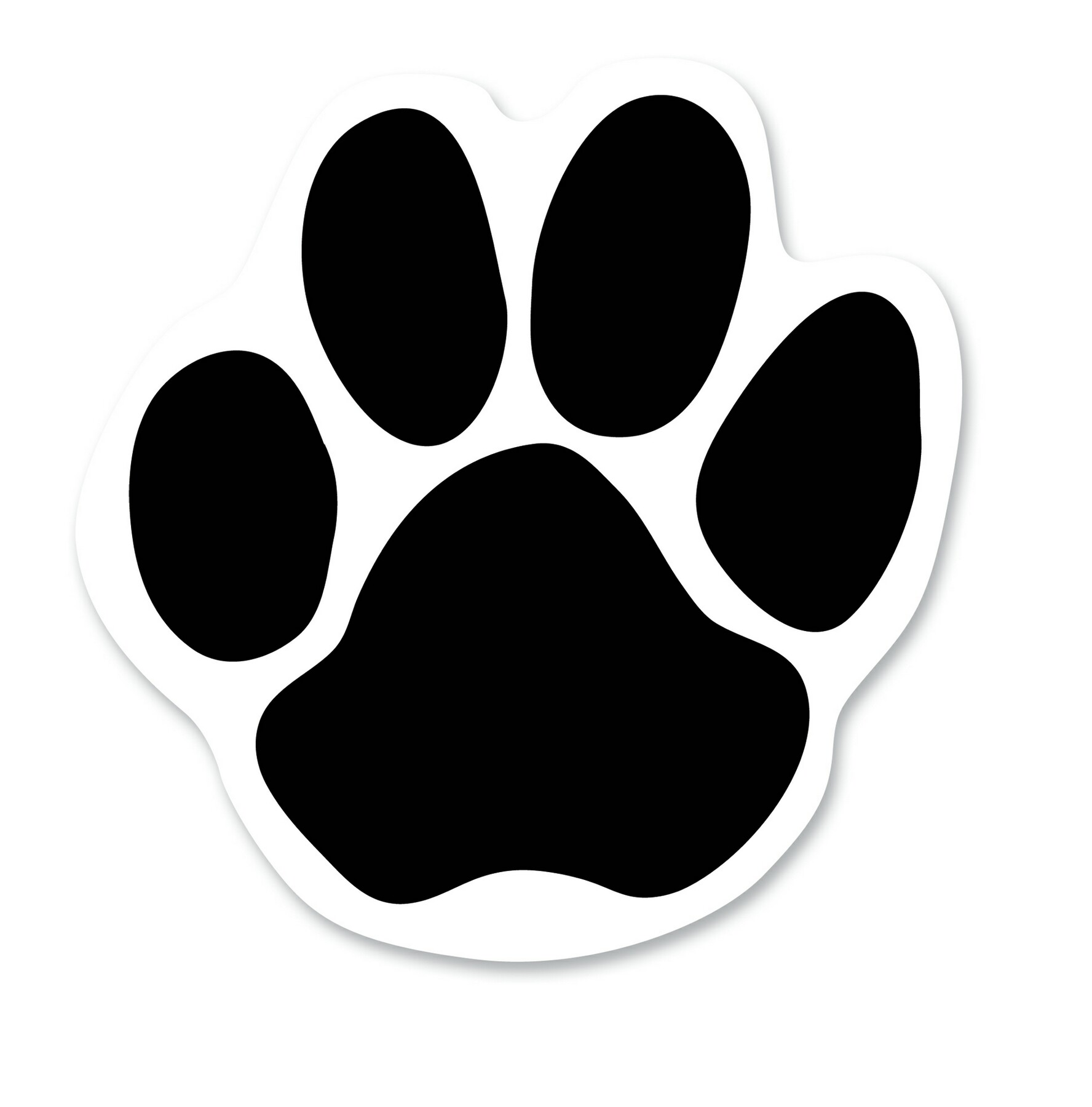 Free dog paw print. Pawprint clipart huge
