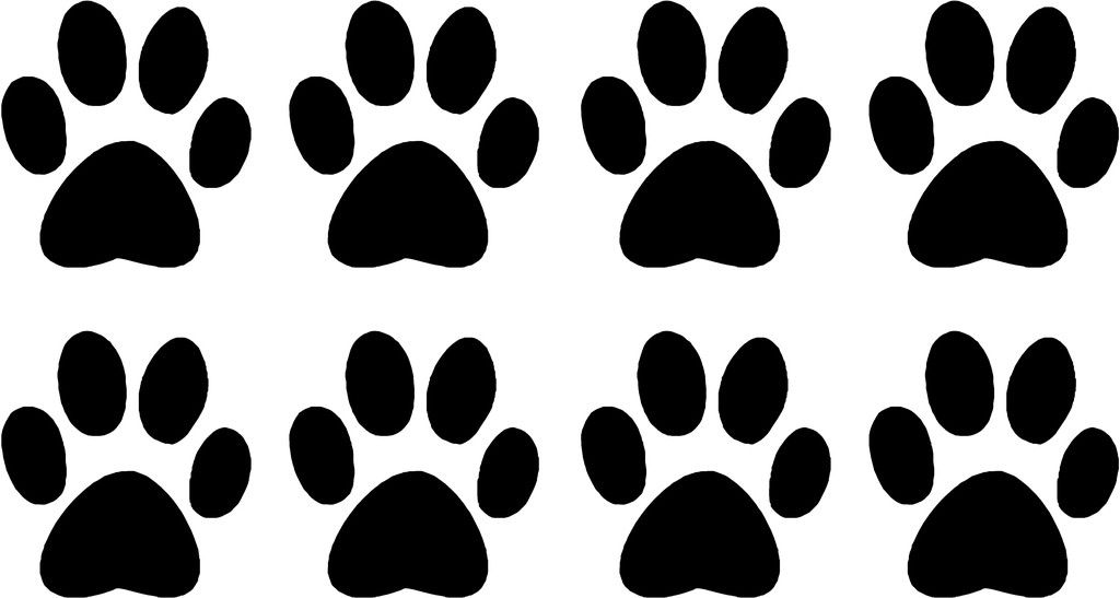 Paws clipart printable. Free paw print pictures