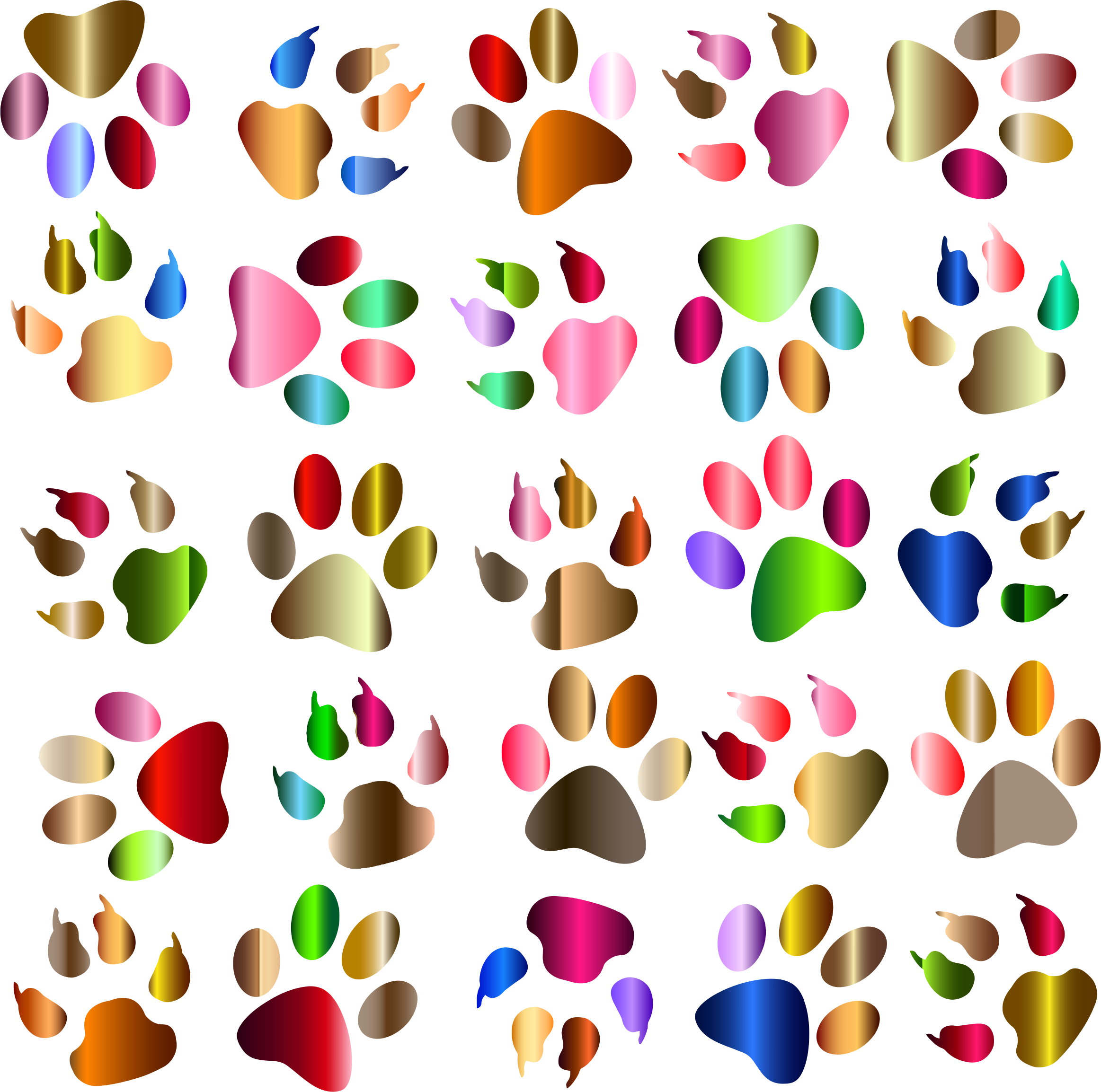 Paw clipart rainbow. Colorful prints pattern background