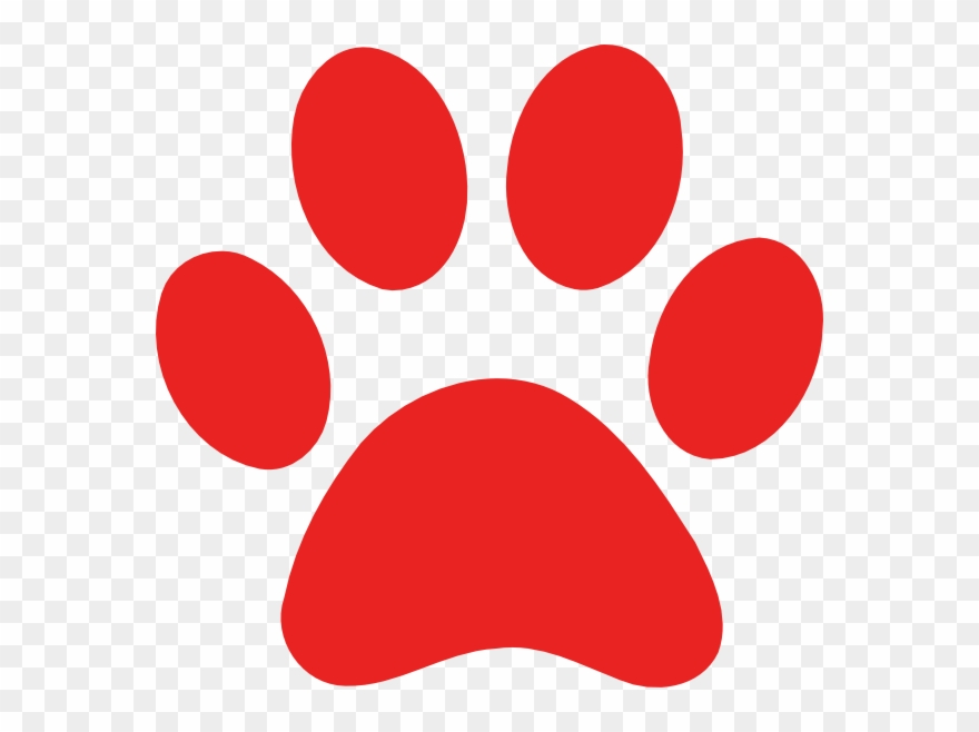 Print clip art dog. Paw clipart red