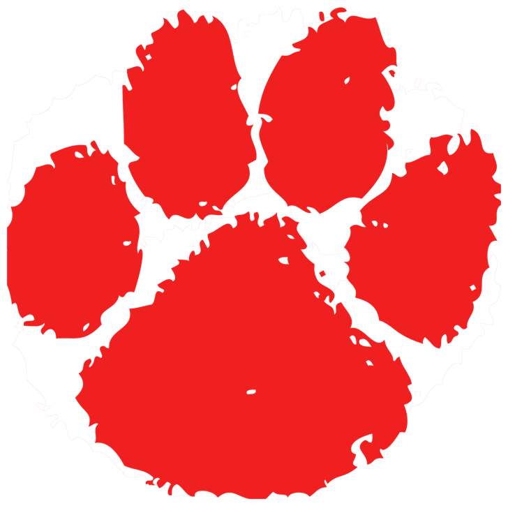 Tiger print compatible wallpaper. Paw clipart red