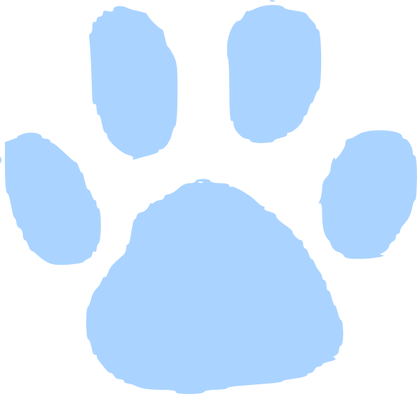 Paw clipart red. Blues clues print free