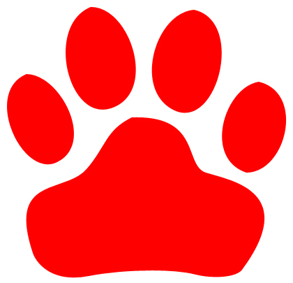 Free panther cliparts download. Paw clipart red