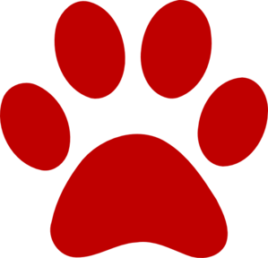 Paw clipart red. Print clip art at