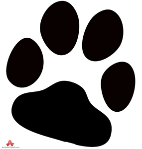 Paw clipart royalty free. Dog print images at