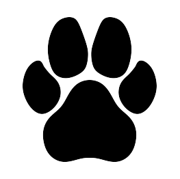 Paw clipart silhouette dog. Print paws animal