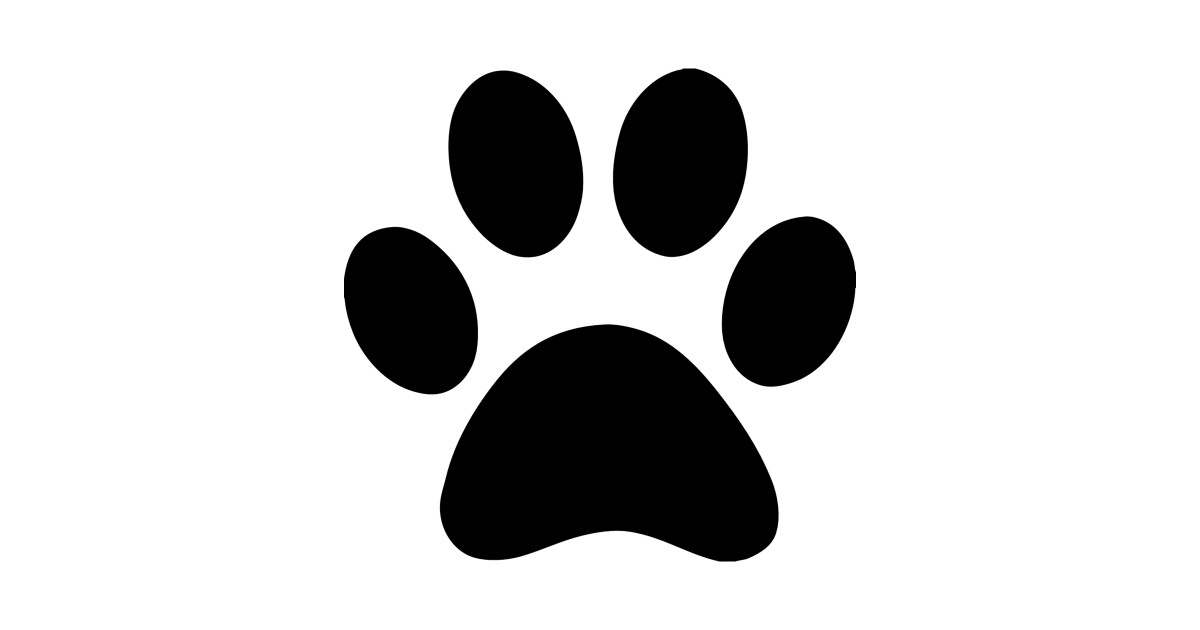 Print by australianmate . Paw clipart silhouette dog