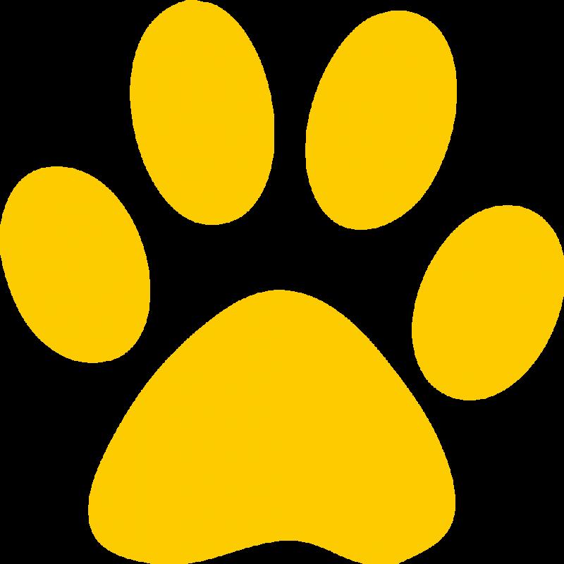 Bulldog print clip art. Paw clipart ucla