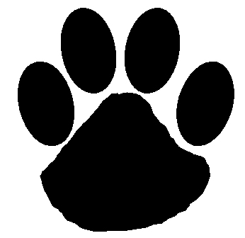 Wildcat clipart paw print. Free download clip art