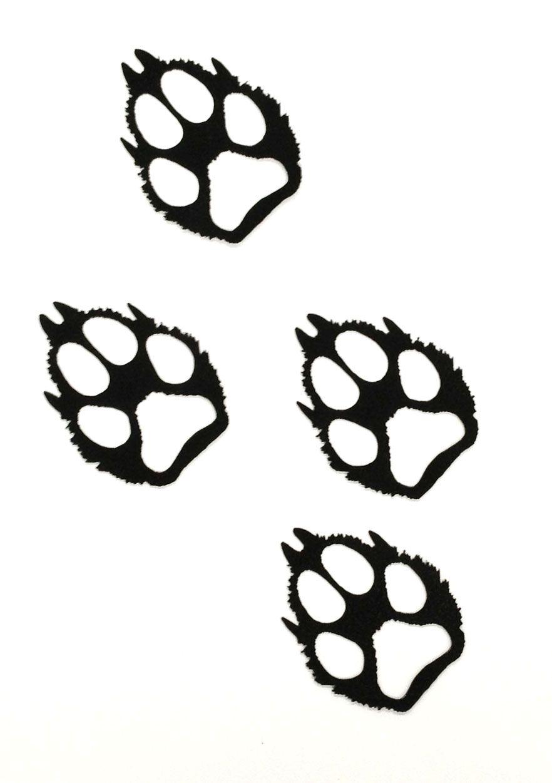Paw print clip art. Pawprint clipart wolf
