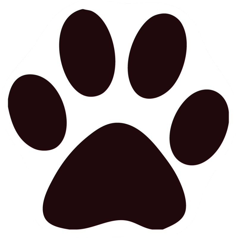 Paw group black cat. Paws clipart kitty