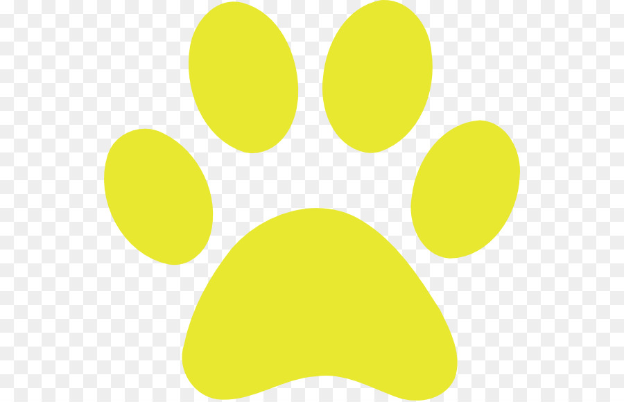 Tiger paw circle sky. Paws clipart yellow dog