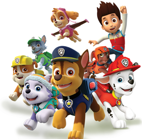 Characters . Paw patrol png images
