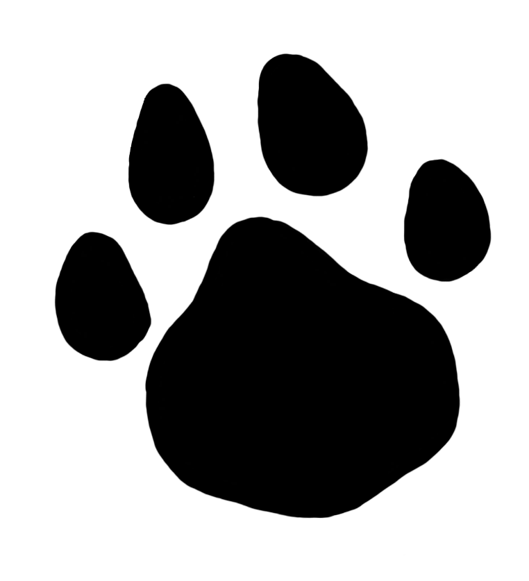 Horseshoe clipart tracks. Paw prints bear front