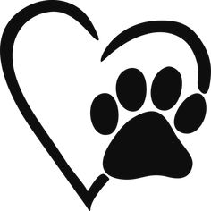 Pawprint clipart. Paw print outline dog