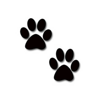 Dog paw print clip. Pawprint clipart