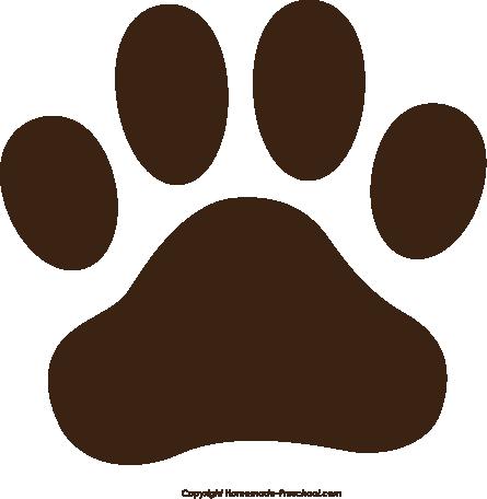 Pawprint clipart. Free paw prints brown