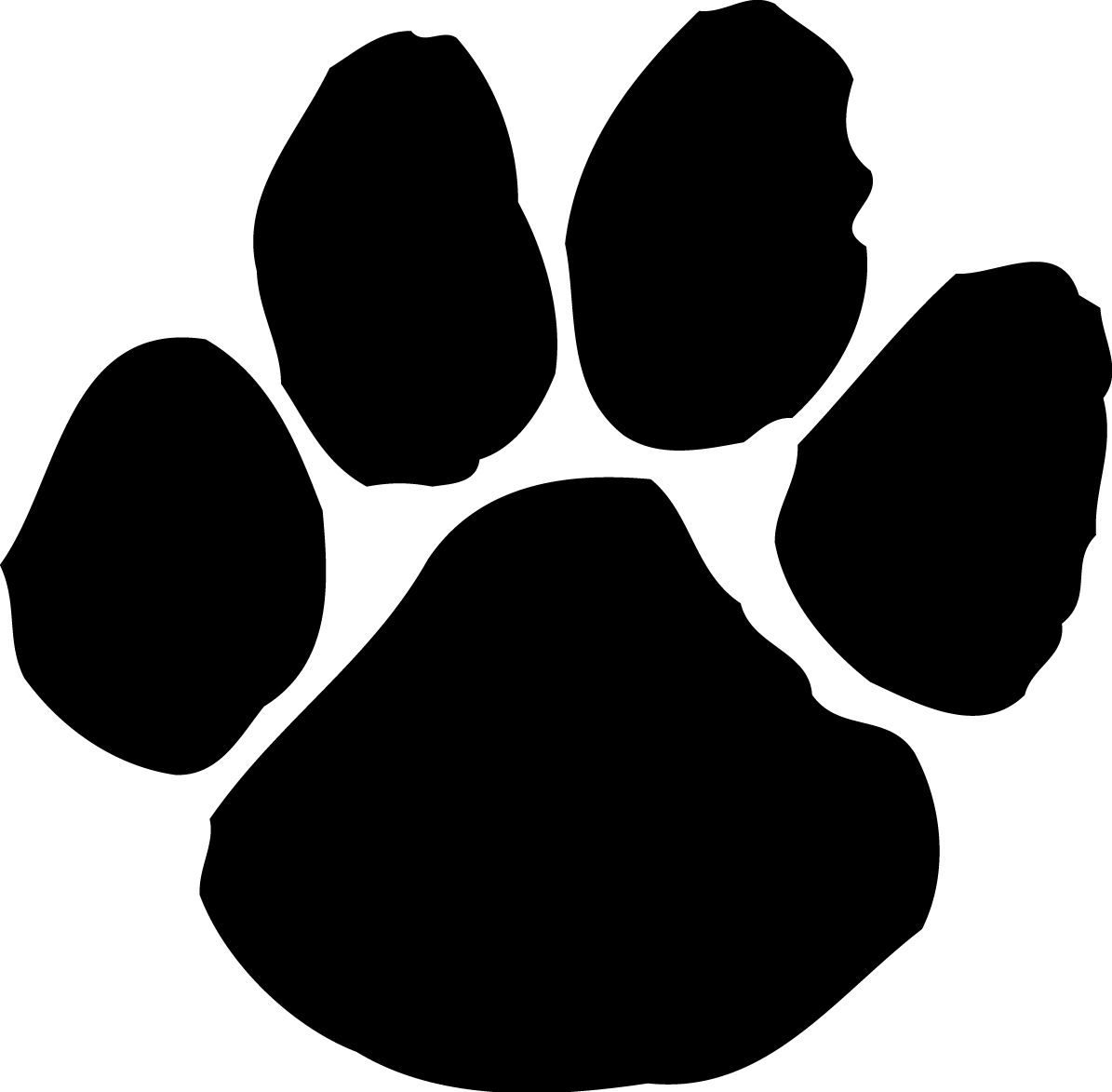 Cute dog paw print. Pawprint clipart