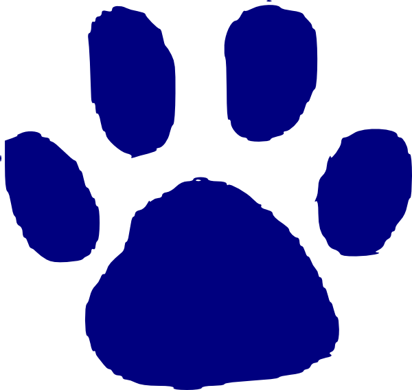 Pawprint clipart animal. Paw print clip art
