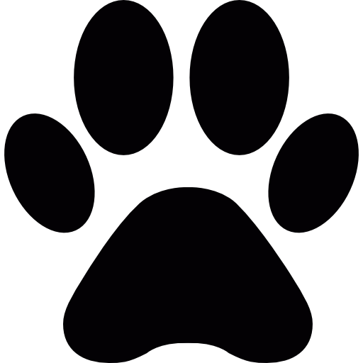 Pawprint clipart animal. Paw print shape icons