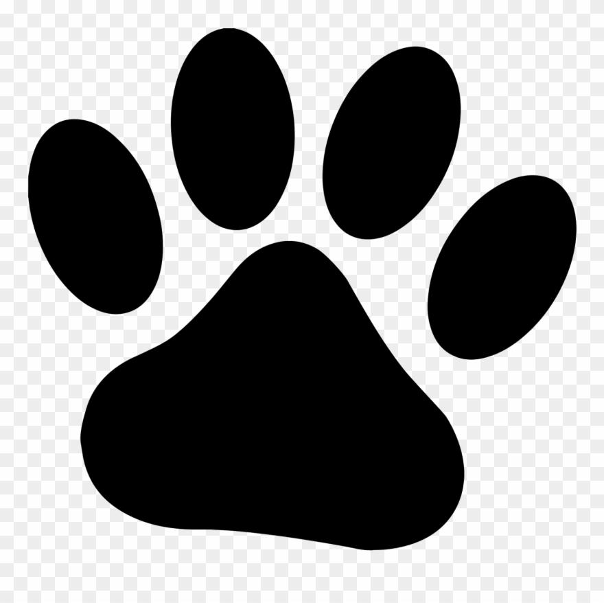 Pawprint clipart animal. Paw rights symbol svg