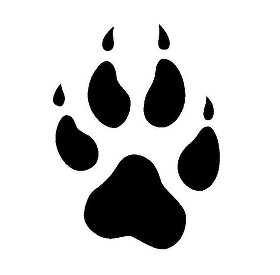 Paw silhouette google search. Pawprint clipart baby wolf