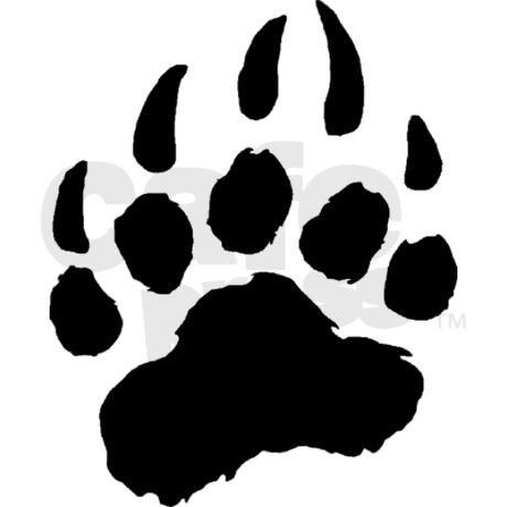 Paw print clip art. Pawprint clipart bear cub