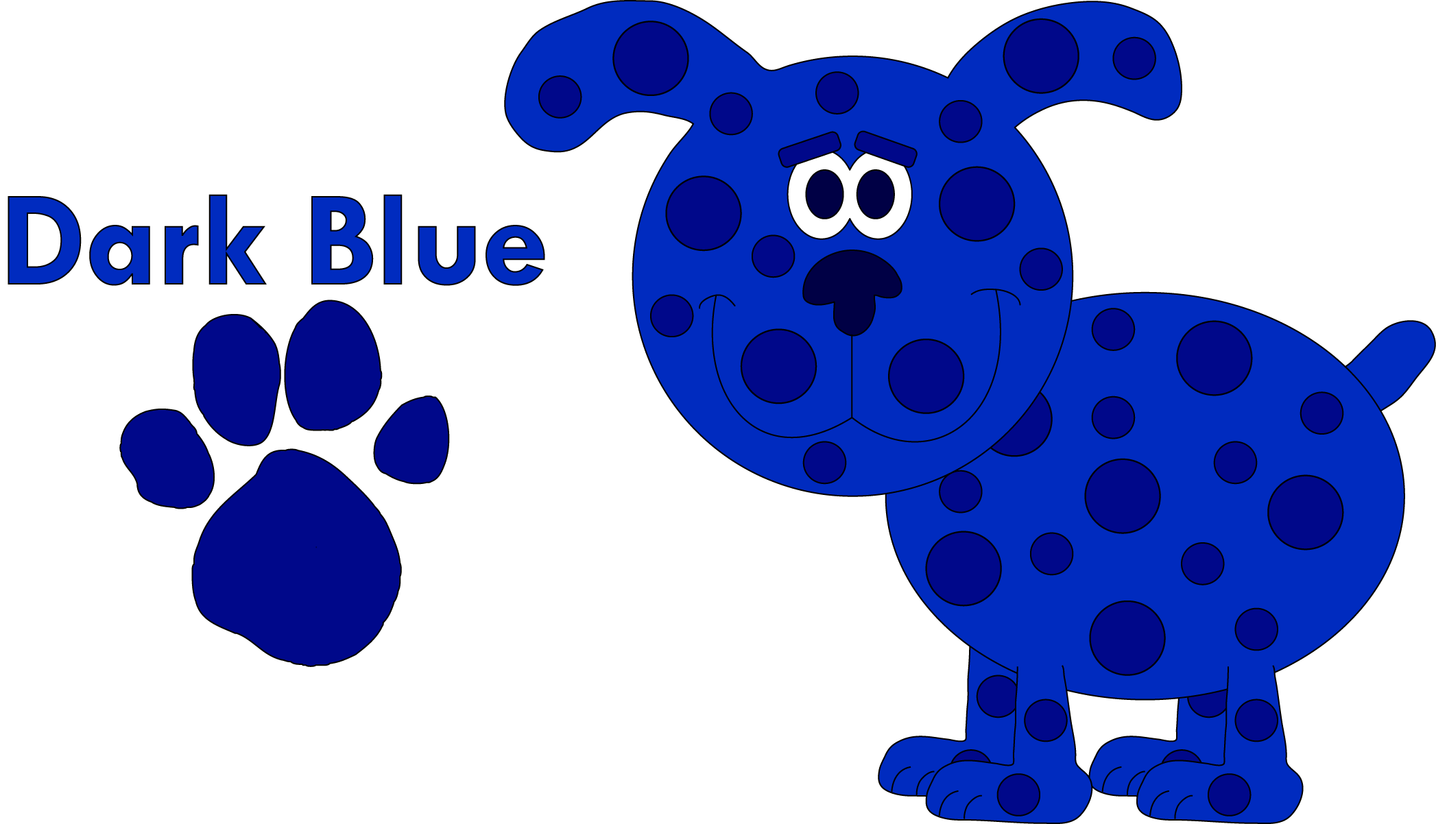 Blues clues group dark. Pawprint clipart blue's clue