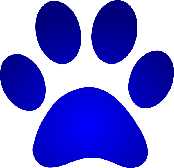 Pawprint clipart blue's clue. Blues clues paw print