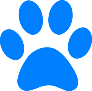 Pawprint clipart blue's clue. Pin on hair ink