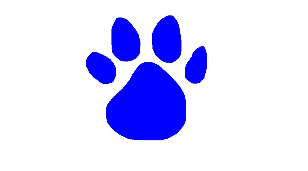 Free blues clues paw. Pawprint clipart blue's clue