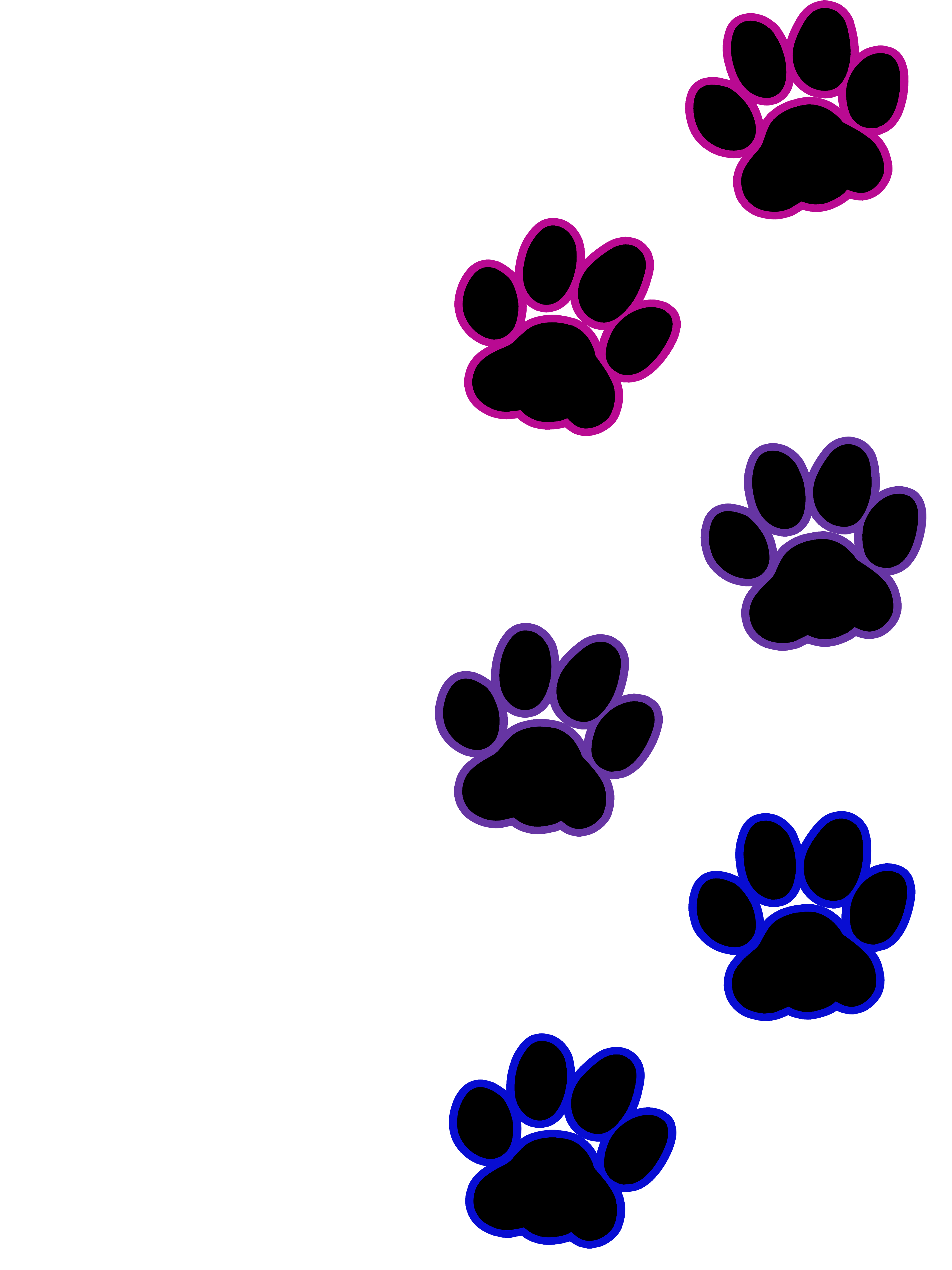 Paw print bisexual artworktee. Pawprint clipart cat