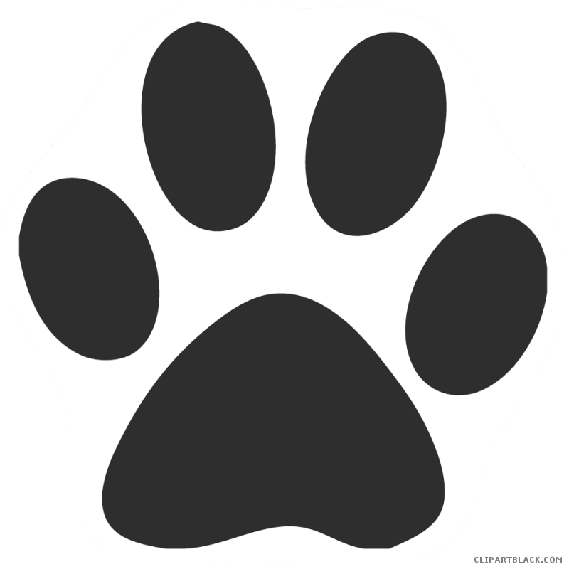 Paw print page of. Pawprint clipart cat