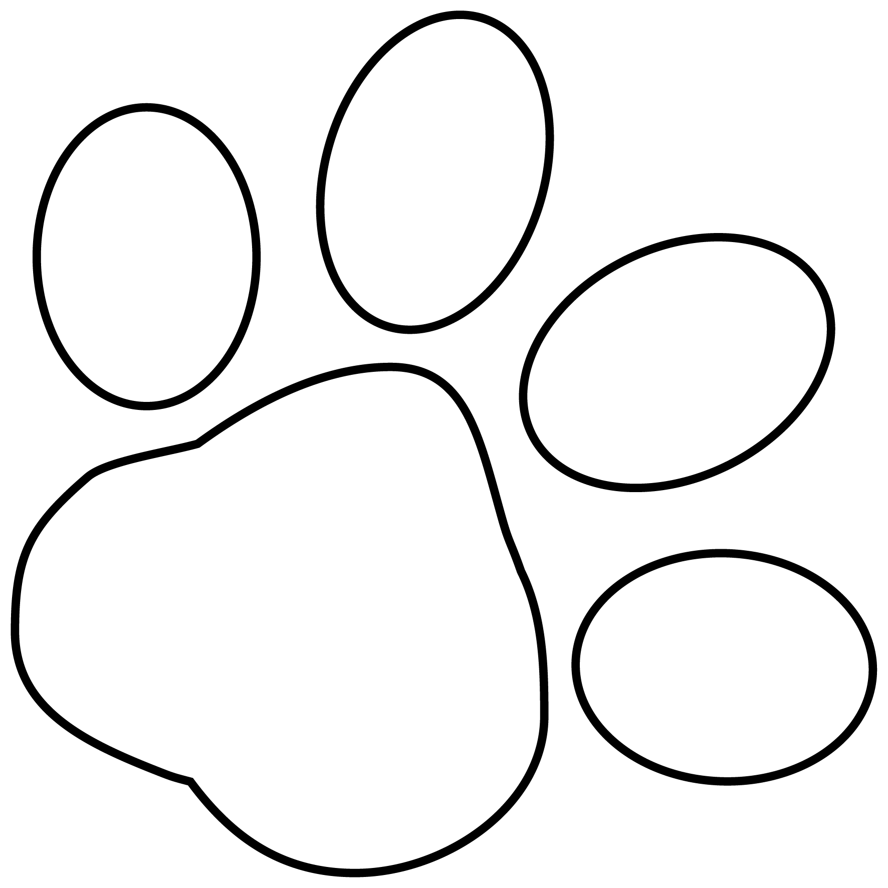 Pawprint Clipart Cheetah Pawprint Cheetah Transparent