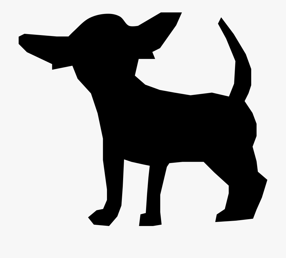 Pawprint clipart chihuahua. Silhouette png free cliparts