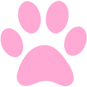 Pawprint clipart color. Paw prints print clipartfest