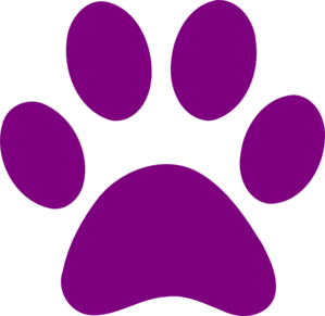 Lion king purple paw. Pawprint clipart color