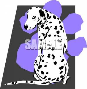 Dalmatians in the kitcen. Pawprint clipart dalmatian
