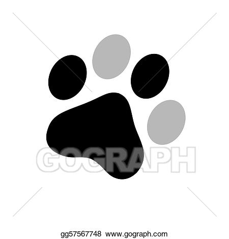Pawprint clipart dalmatian. Paw print stock illustration