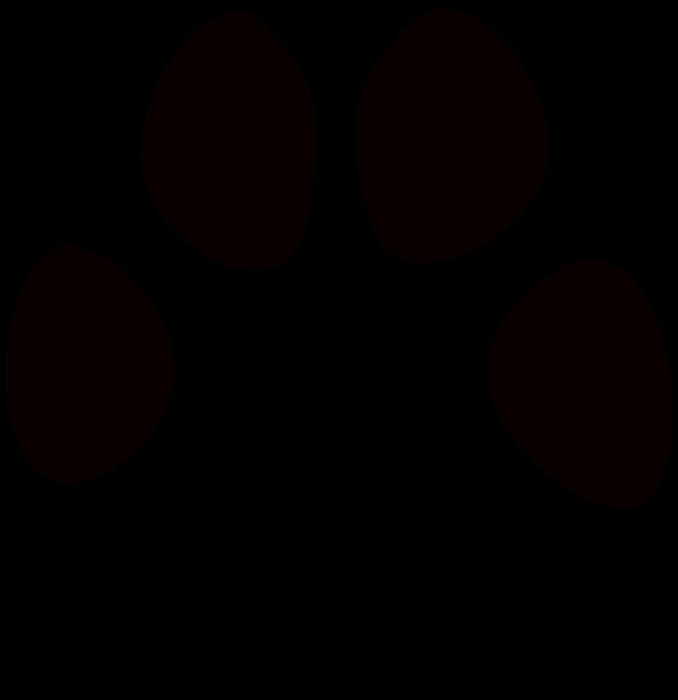 Huella de perro big. Pawprint clipart dog tracks
