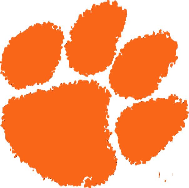 Ncaa clemson tigers paw. Pawprint clipart emoji
