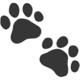 Pawprint clipart emoji. Paw prints u f