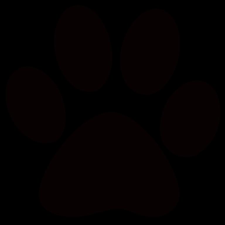 Cougar paw print clip. Pawprint clipart four