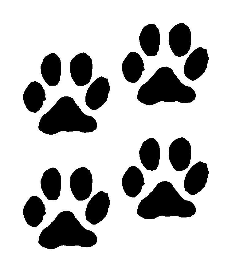 Pawprint clipart four. Free dog paw print