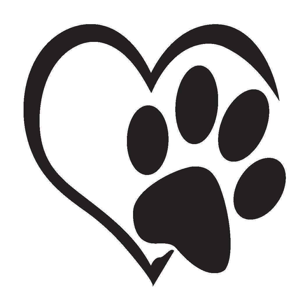 Download Pawprint clipart heart, Pawprint heart Transparent FREE ...