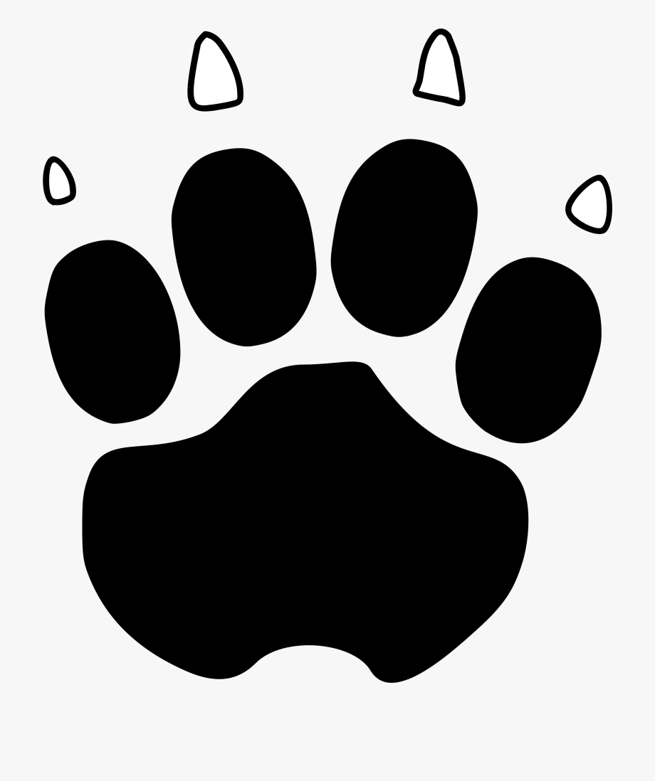 Pawprint clipart huge. Paw print and name
