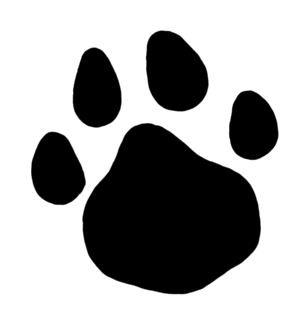 Pawprint clipart huge. Paw print collection of