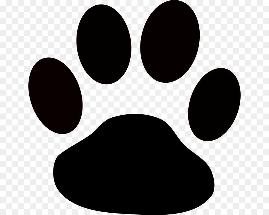 Pawprint clipart huge. Panda cartoon dog black