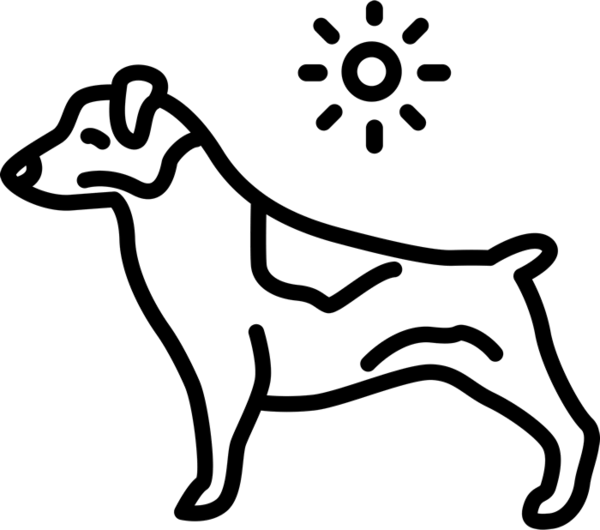 Pawprint jack russell terrier